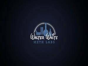 """Postal: """"Walter White Meth Labs"""" simulando el logo de Disney"""