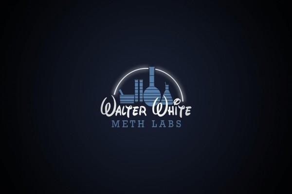 """""""Walter White Meth Labs"""" simulando el logo de Disney"""