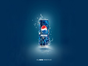 Postal: Una refrescante lata de Pepsi