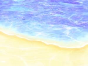 Postal: Agua en la orilla