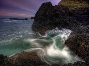 Postal: Agua de mar y rocas