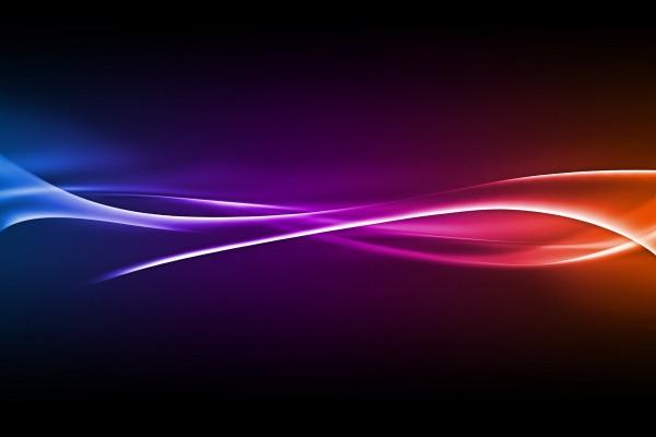 Colores luminosos sobre un fondo oscuro