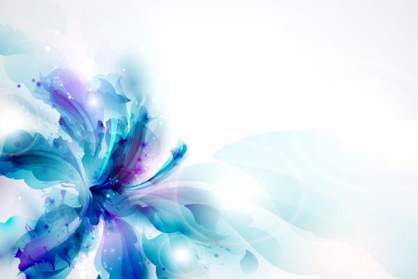 Flor azul abstracta