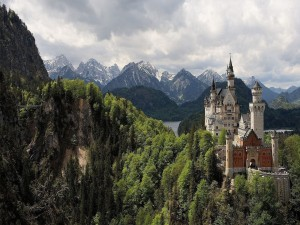 Postal: Visitas en el Castillo Neuschwanstein