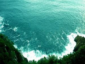 Contemplando el mar desde gran altura