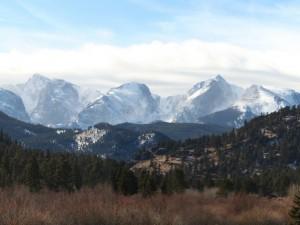 Postal: Grandes montañas nevadas