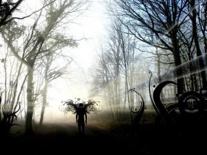 Un ser oscuro en el bosque