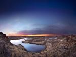 Lagunas dispersas por el terreno