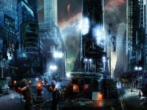 Postal: Videojuego de guerra en una gran ciudad