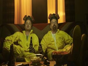 """Walter y Jesse descansando tras cocinar """"Breaking Bad"""""""