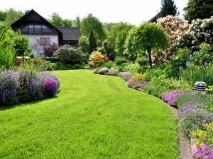 Casa con un maravilloso jardín