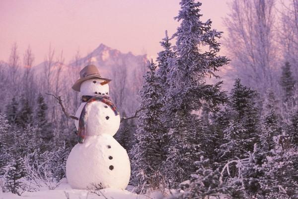 Un gran muñeco de nieve
