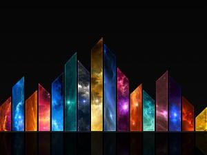 Imagen con fragmentos de varios colores