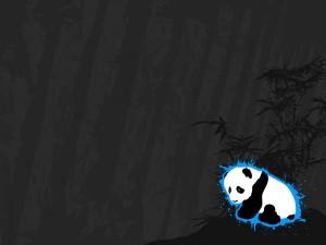 Un triste oso panda