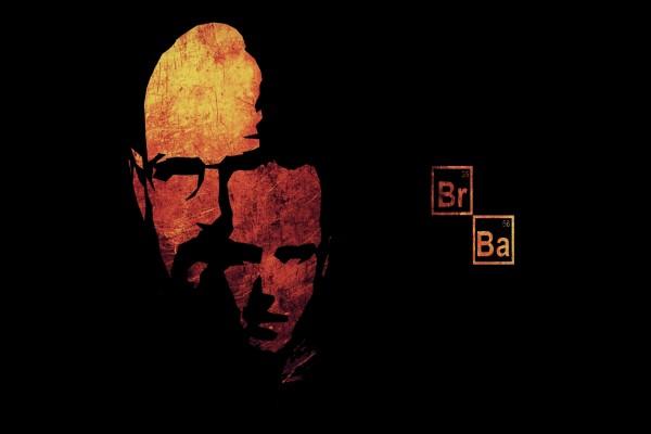 """Caras de los dos personajes principales de """"Breaking Bad"""""""