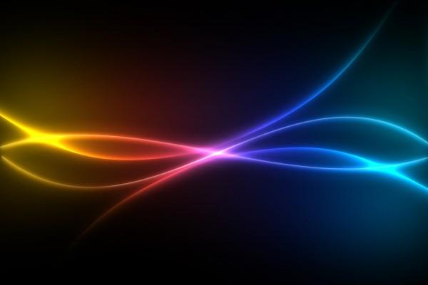 Líneas de colores luminosas
