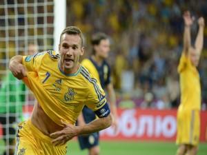 Postal: Andriy Shevchenko jugador de la Selección Ucraniana (Eurocopa 2012)