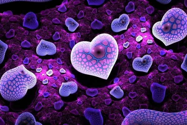 Hermosos corazones de distintos tamaños