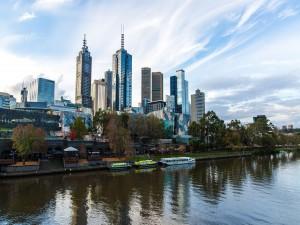 Postal: El río Yarra en Melbourne (Australia)