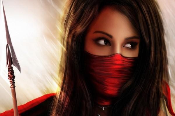 Hermosa mujer ninja