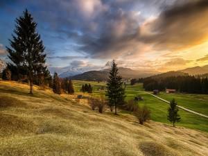 Sensacional paisaje de campo en Baviera
