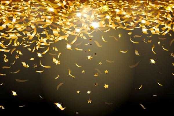Magníficas cintas y estrellas doradas