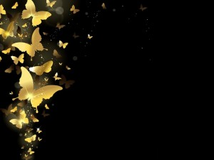 Postal: Sinfonía de mariposas doradas