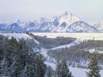 Vista de un paisaje cubierto de nieve