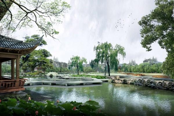 Un precioso parque oriental