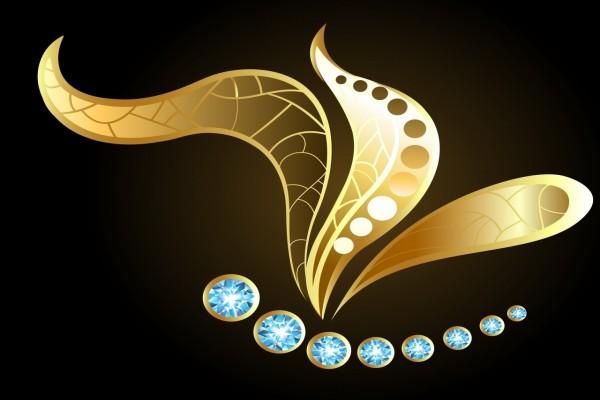 Flor y diamantes abstractos