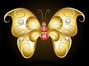 Postal: Original y sensacional mariposa
