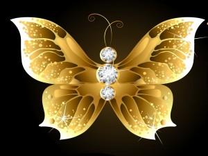Postal: Excepcional mariposa brillante