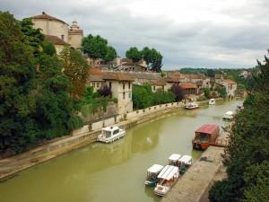 Postal: El río Baïse a su paso por Nérac (Francia)