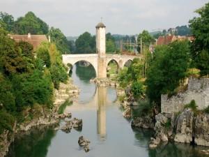 Postal: Viejo Puente en Orthez (Francia)