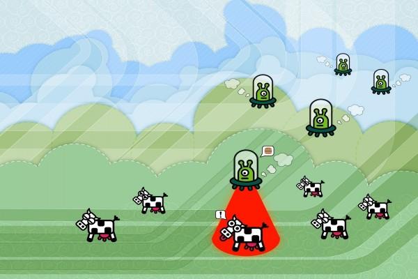 Marcianos entre vacas