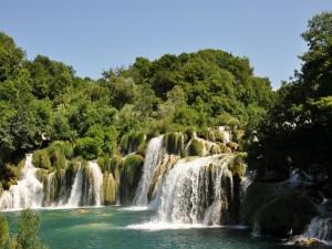 Postal: Salto de Agua del Krka, Croacia