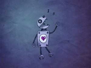 Un robot entonando canciones de amor