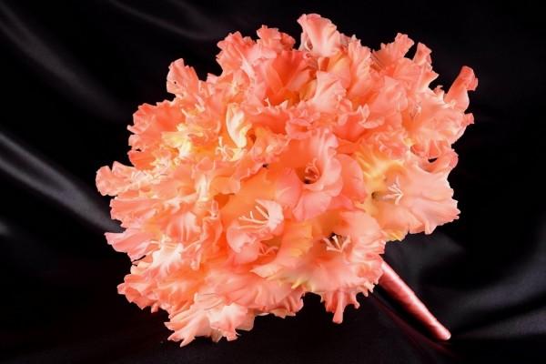 Ramo de gladiolos color naranja