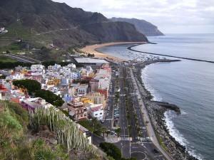 Postal: Imagen de la avenida Marítima de San Andrés (Tenerife)