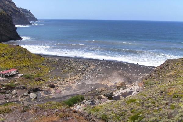 Playa del Tamadiste en el barranco de Afur (Tenerife)