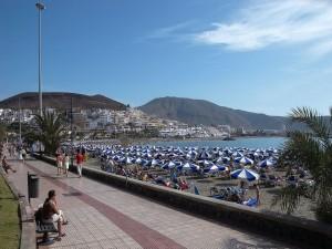 Playa en Los Cristianos (Tenerife)