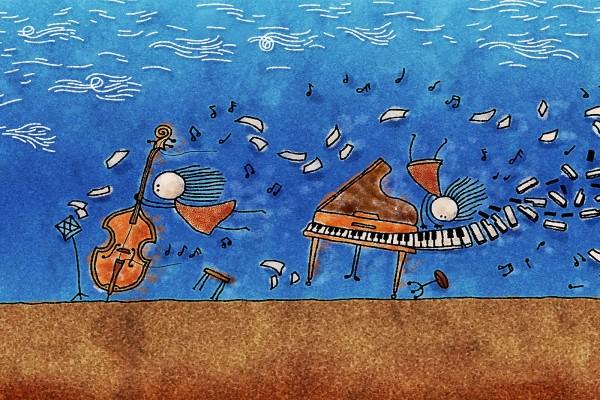 El fuerte viento arrastrando los instrumentos musicales