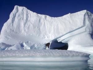 El brillo de un gran iceberg