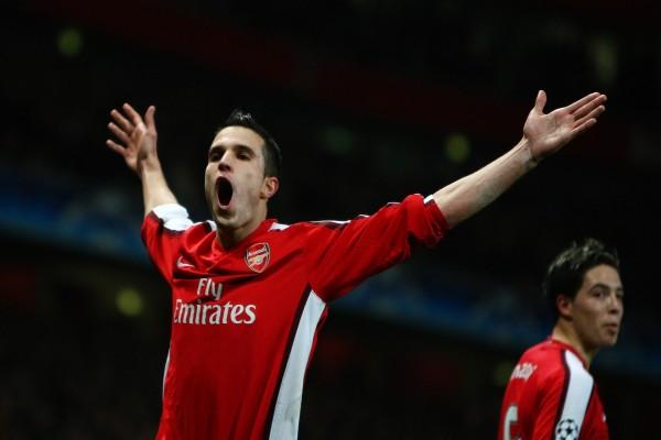 Dos jugadores del Arsenal Football Club