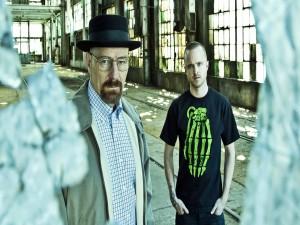 """Dos personajes de la serie """"Breaking Bad"""" Walter y Jesse"""