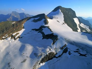 Postal: Gruesa capa de hielo en la montaña