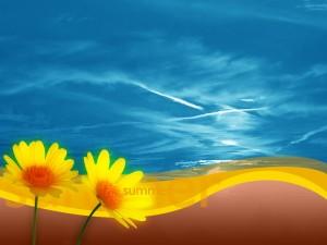 ¡Verano! con flores y buen tiempo