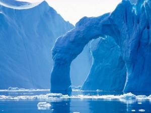 Un grandioso arco de hielo