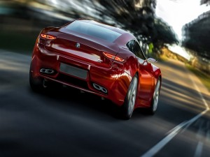 Un elegante BMW M9 rojo