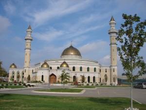 Postal: Mezquita con cúpulas doradas
